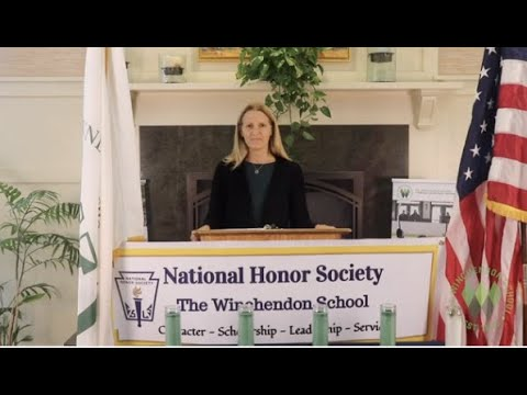 National Honor Society Induction 2020 at The Winchendon School