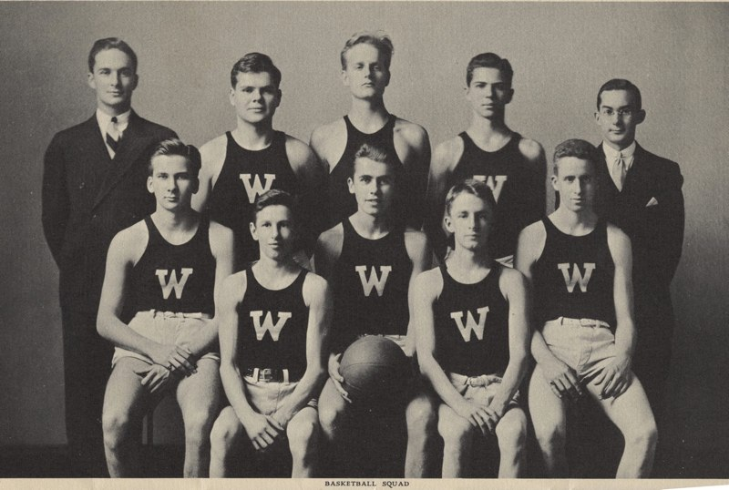 1932-33 Boy's Basketball team