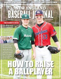 Nate Espelin on the cover of New England Baseball Journal