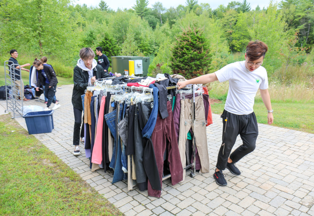 Students run a thrift store to address local needs.