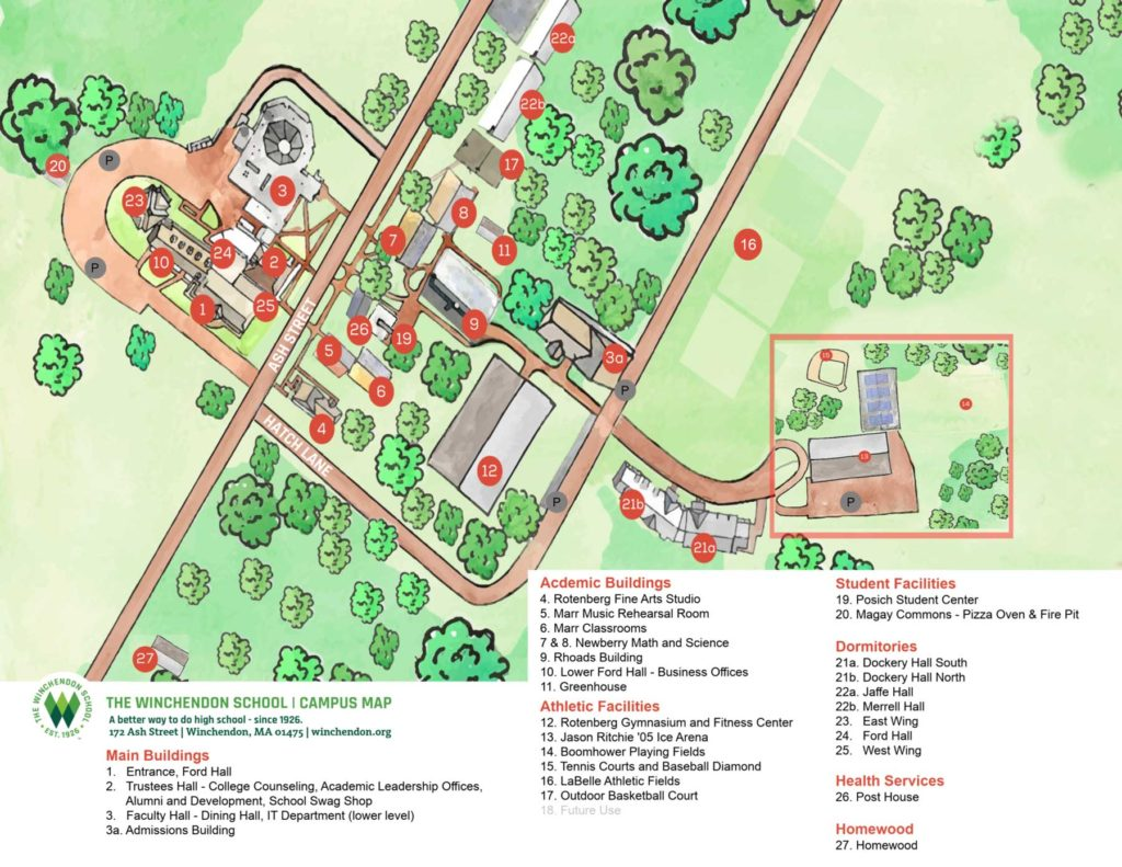 winchendon campus map
