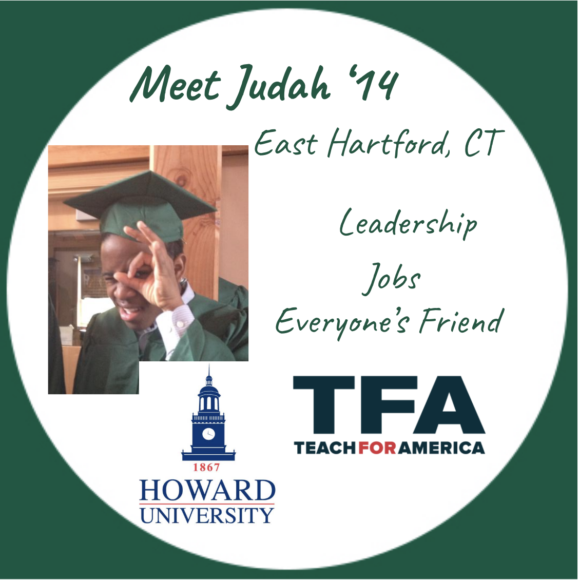 Student profile spotlight of judeh lewis